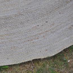 Rond Boho tapijt detail en structuur