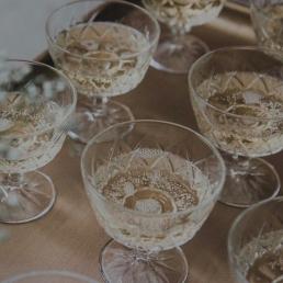 Retro champagne coupe