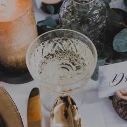 Oude champagne glazen