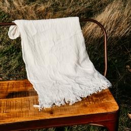 Witte dekens dunne stof