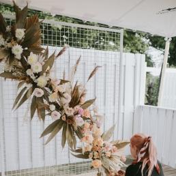 Witte draad backdrop