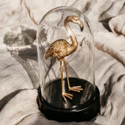 Stolp gouden flamingo