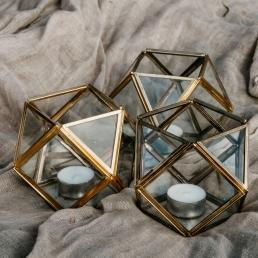 Theelichthouder geometrisch