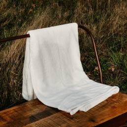 Wit deken cocoon